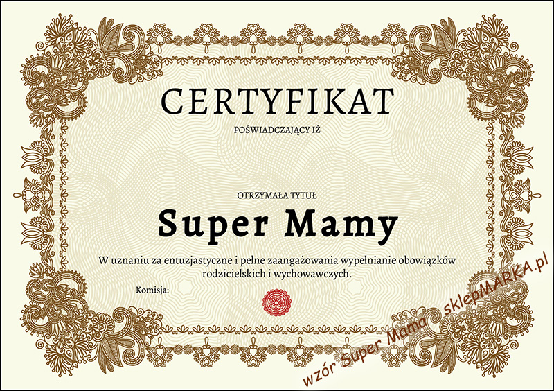 Certyfikat Super Mama